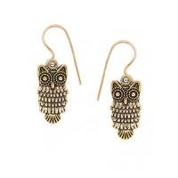 Combo of Golden Owl and Golden Shell Earrings