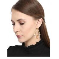 Rose Quartz Pearl Brass Party Wear Earrings
