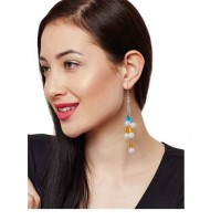 Pearls and Beads Exotic Hanging Western Earrings