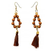 Beaded Tassel Western Earrings