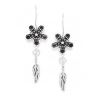 Combo of Silver Sword and Silver Flower Earrings