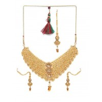 Heavy Stone Studded Traditional Choker Jewellery Set for Wedding
