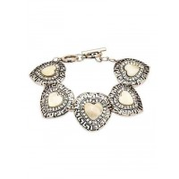 Pale Yellow Stone Handmade Jewellery Bracelet