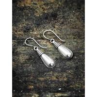 Oxidized Silver Drop Earrings