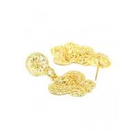 Golden Peacock Golden Necklace Set with Flower Motifs