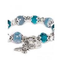 Blue Butterfly Charm Bracelet For Women