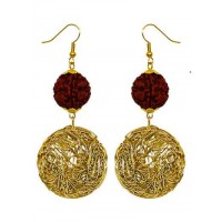 Wire Bundle Ball Rudraksha Handmade Jewellery Earrings