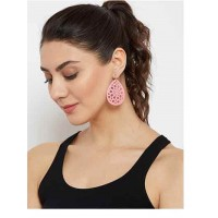 Pink Contemporary Metal Earrings For Women