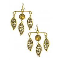 Gold Leaf Hanger Handmade Jewellery Earrings