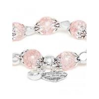 Pink Heart Charm Bracelet For Women