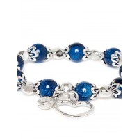 Blue and Silver Heart Charm Bracelet