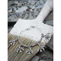 Metallic Bird Hangings Oxidized Tribal Jewellery Cuff Bracelet