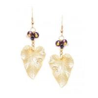 Long Drop Earrings in Gold Color