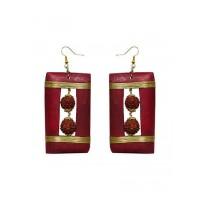 Rudraksha Box Handmade Jewellery Earrings