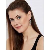 Casual-wear Oxidized Silver Leaf Earrings
