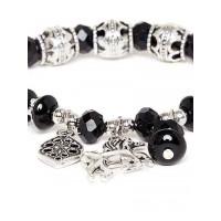 Black and Silver Horse Charm Bracelet