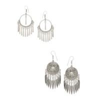 Combo of Dream-catcher Silver Oxidized Earrings