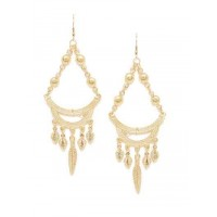 Chandelier Artificial Earrings in Golden Color