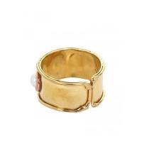 White Stones Brass Handmade Jewellery Ring
