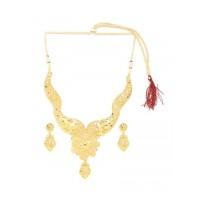Golden Flower Necklace Set