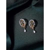 American Diamond Oval Stud Earrings