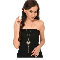 Vintage Silver Tassel Long Chain Fashion Necklace