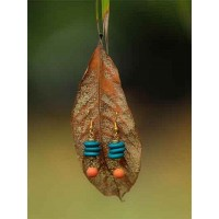 Colorful Wooden Beads Handmade Jewellery Earrings