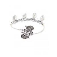 Leafy Oxidized Silver Bracelet