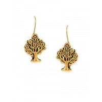 Combo of Vintage Golden Tree and Golden Shell Earrings