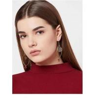 Hoop Earrings in Gold with Crystal Beads