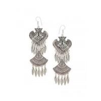Combo of Long Oxidized Silver Dangler Earrings