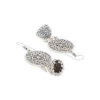 Oxidized Silver Dream catcher Jhumka Earrings