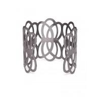 Metallic Grey Cuff Bracelet For Women