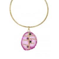 Purple Onyx Brass Lolita Fashion Necklace Choker
