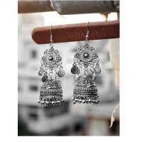 Embellished Tribal Jewellery Jhumki Earrings With Hanging Smilies
