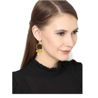 Jade Green Solitaire Party Wear Earrings