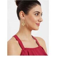 Oval Hoop Earrings in Gold Color