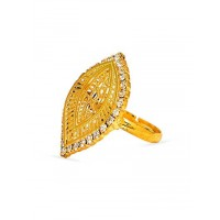 Handcrafted Golden Cocktail Ring For Women