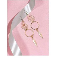 Spiral Artificial Earrings in Gold Color