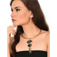 Seraphinite Black Clasping Choker Fashion Necklace