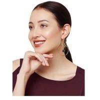 Sparkling Bubbly Modern Designer Black Druzy Party Wear Earrings