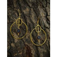 Sparkling Bubbly Modern Designer Black Druzy Party Wear Earrings