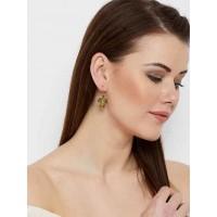 Short Golden Tortoise Earrings For Women