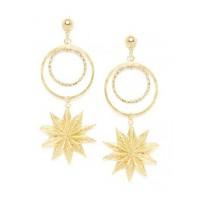 Combo of Two Golden Star Earrings