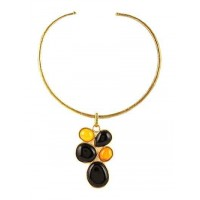 Bubbles of Bliss Lime Onyx and Black Onyx Fusion Fashion Necklace