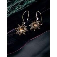 Lightweight Golden Sun Earrings For Women