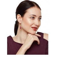 Entangled in Love Ruby and Labradorite Fashion Party Wear Earrings