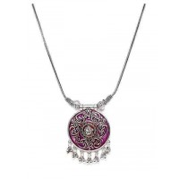 Ganesha Oxidized Silver Fashion Necklace