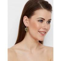 Short Golden Circular Earrings
