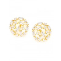 American Diamond Patterned Stud Earrings
